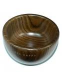 Ciotola legno Ovangkol con sapone barba 50 gr.