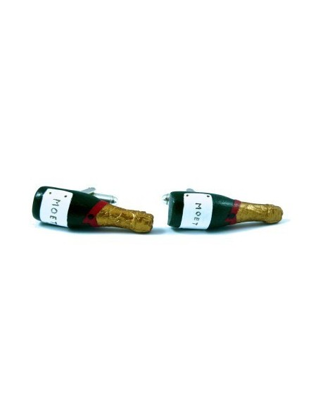 Champagne' bottle-shaped cufflinks