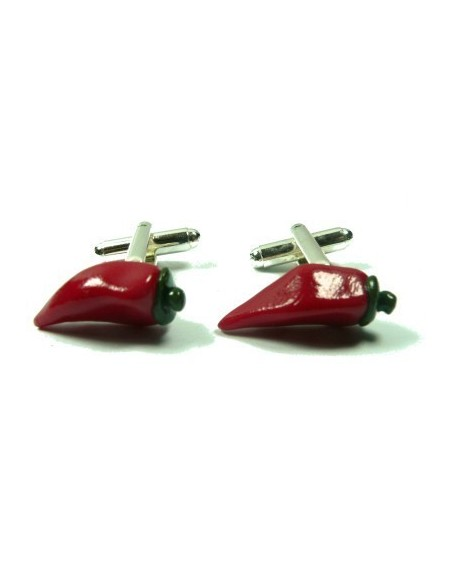 chilli-shaped cufflinks