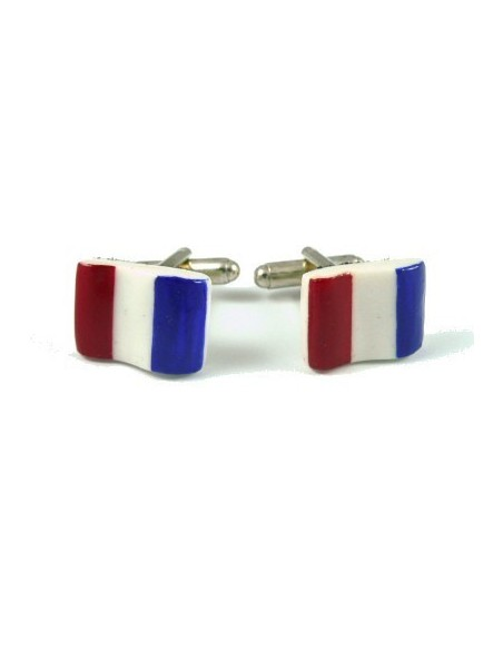 French flag-shaped cufflinks