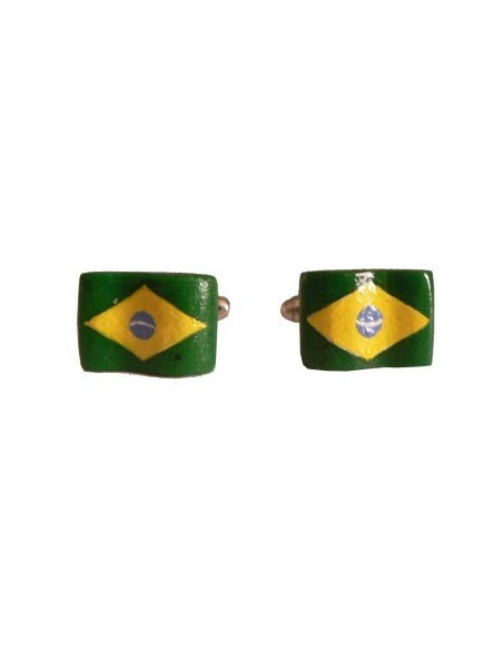 Brasil flag-shaped cufflinks
