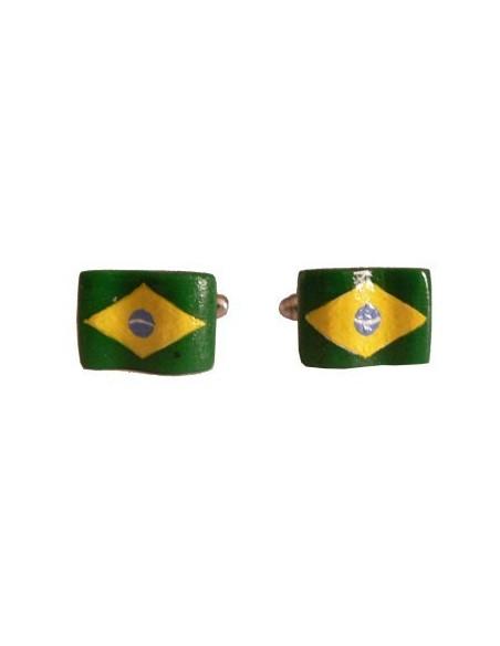 Gemelli a forma di bandiera brasiliana