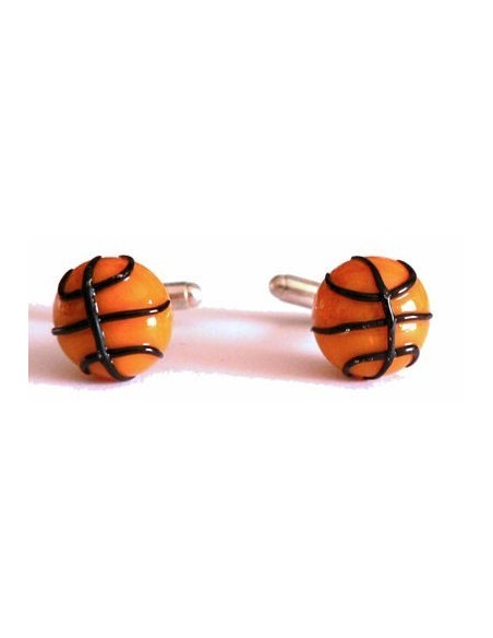 Basket ball-shaped cufflinks