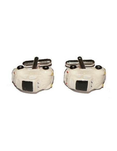White Beetle-shaped cufflinks