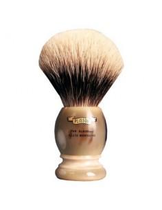 Pennello da barba tasso Alta Montagna e manico in corno biondo 14