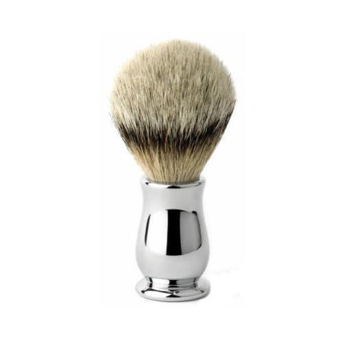 Pennello da barba con manico in acciaio modello Chatsworth