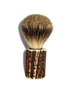 Pennello da barba con manico in cervo