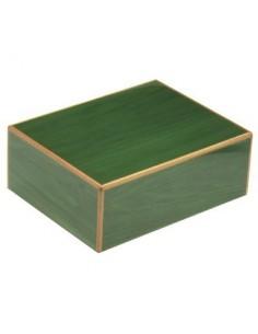 Humidor in legno laccato verde