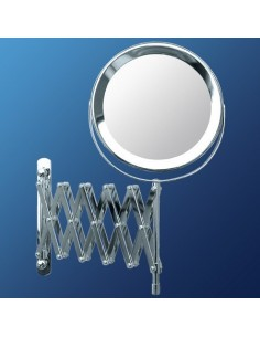 Bifacial magnifying mirror to be fixed to the wall cod 3047