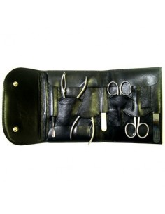 Black manicure case with automatic closing