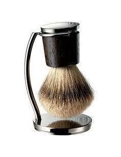 Pennello da barba manico Wengè con Supporto Collezione Barbieri