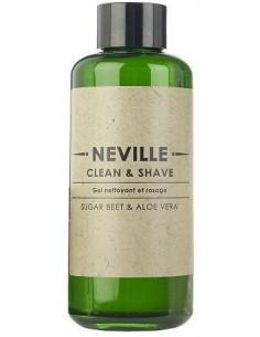 Gel per Detergere e Rasare Neville con Barbabietola da Zucchero e Aloe Vera 200 ml