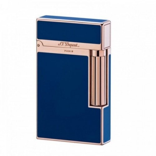 Accendino Ligne 2 Blue Chinese Lacquer Pink Gold
