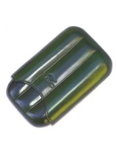 Porta mezzi toscani in pelle color verde