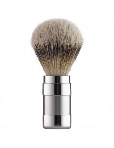 Pennello da Barba Tasso Mnaico Acciaio Inox Satinato Lucido