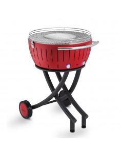 Lotus grill XXL Rosso Barbecue Con Ruote da Giardino